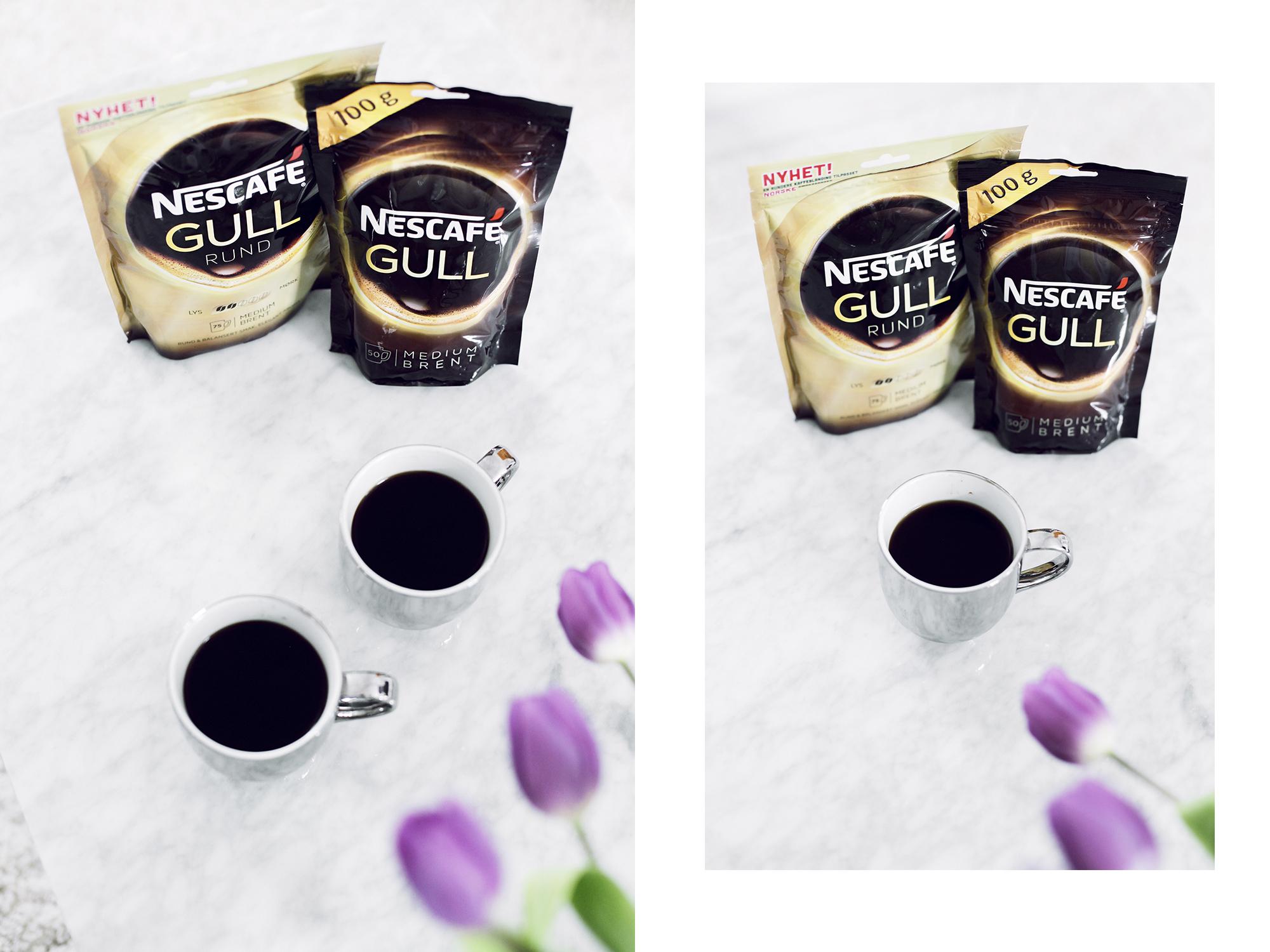 Nescafe gull rund